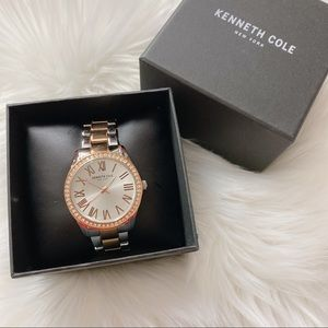Kenneth Cole Crystal Bezel Two-Tone Watch 39mm